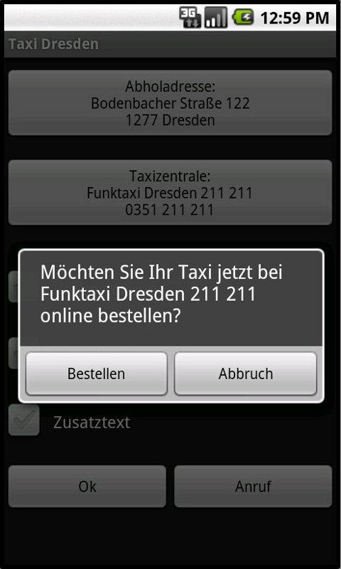 Taxi Dresden- screenshot