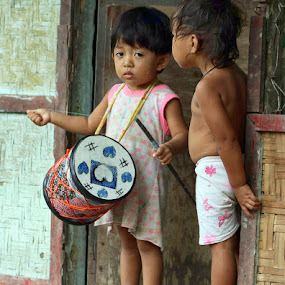 The tambourine girl by Jonguy Demontigny - Babies & Children Children Candids