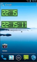 Screenshot of Digital Clock Green Pro
