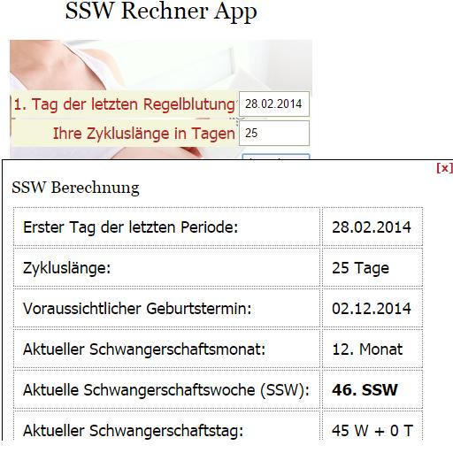 ssw rechner schwangerschaft android apps on google play. Black Bedroom Furniture Sets. Home Design Ideas