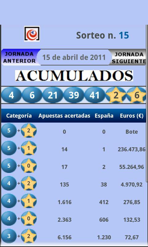 España Loterías - screenshot