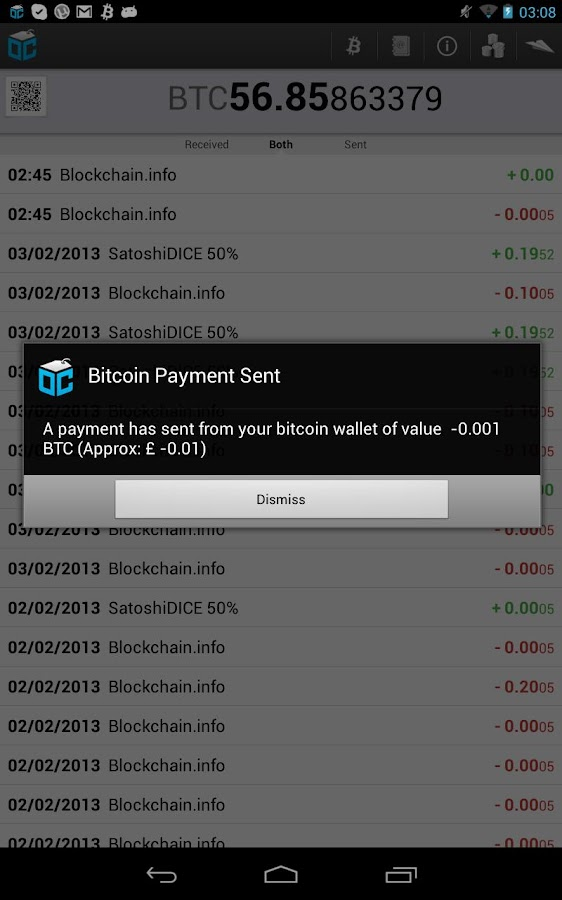 Blockchain - Bitcoin Wallet - screenshot