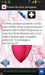 Frases de amor - português - screenshot thumbnail