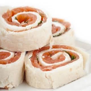 Smoked Salmon Wraps.
