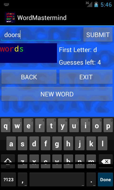 Word Mastermind- screenshot