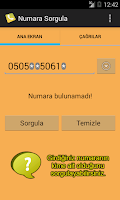 Screenshot of Numara Sorgulama