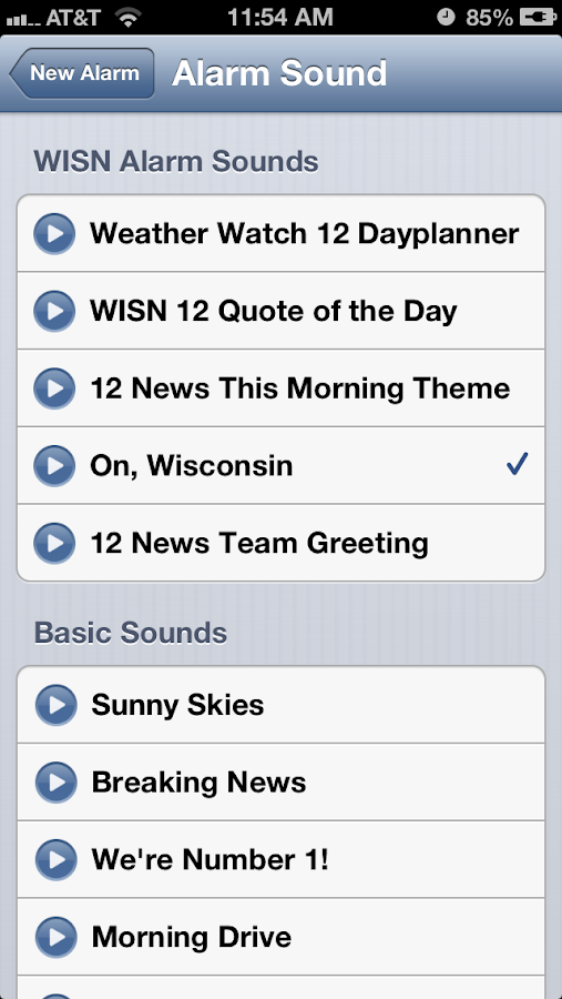 Alarm Clock WISN 12 Milwaukee - screenshot