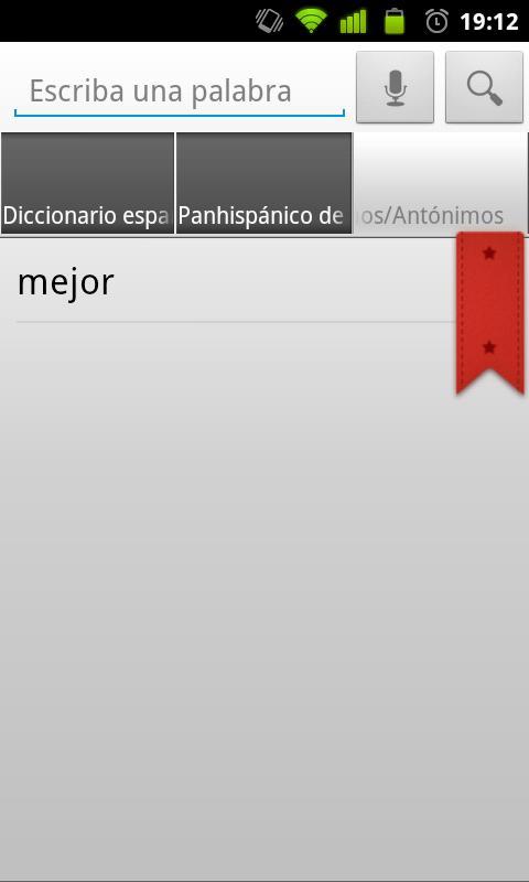Diccionario Español RAE - screenshot