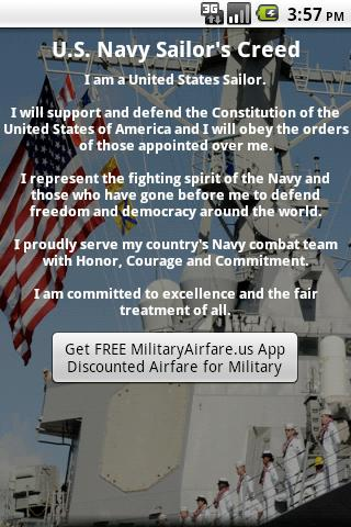 Navy Sailor's Creed- screenshot