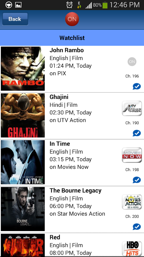 WHAT'S-ON-INDIA : TV Guide App - screenshot