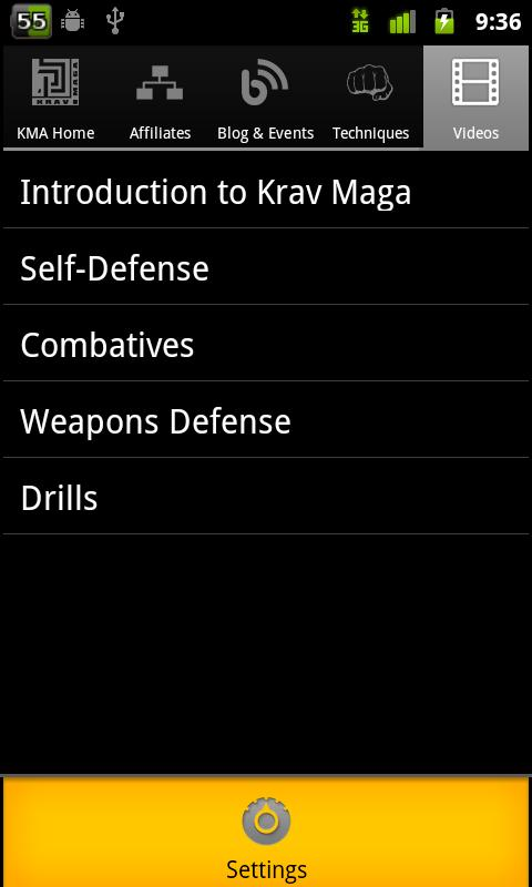 Krav Maga Touch - screenshot