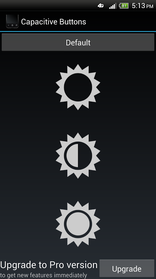 Capacitive Buttons - screenshot
