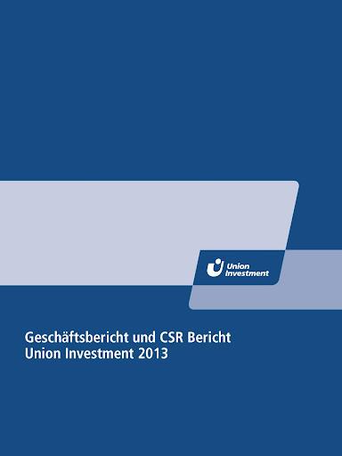 Union Investment Bericht 2013