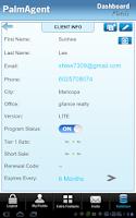 Screenshot of PalmAgent Dashboard
