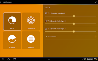 Screenshot of Philips Hue