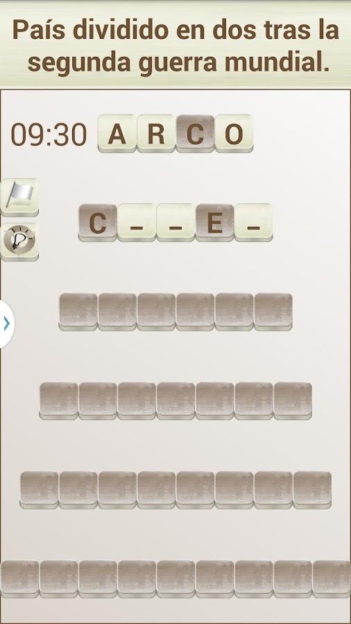 Juego de Palabras en Español- screenshot