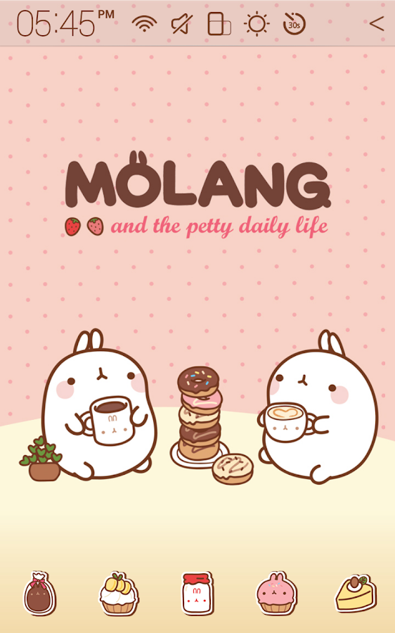 Molang Teatime Atom Theme - screenshot