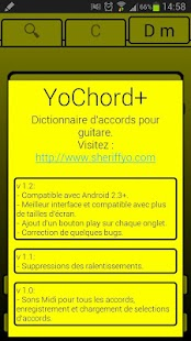 YoChord+ (Guitar chords)- screenshot thumbnail