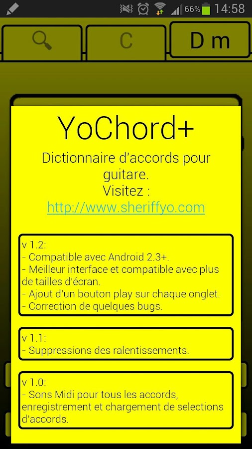 YoChord+ (Guitar chords)- screenshot