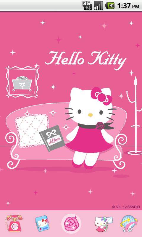 Hello Kitty Miss You Theme - screenshot