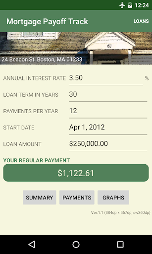 Mortgage Payoff Track