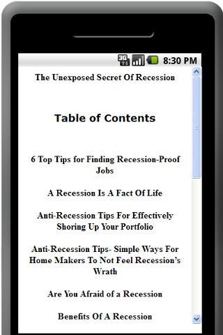 Unexposed Secret Of Recession