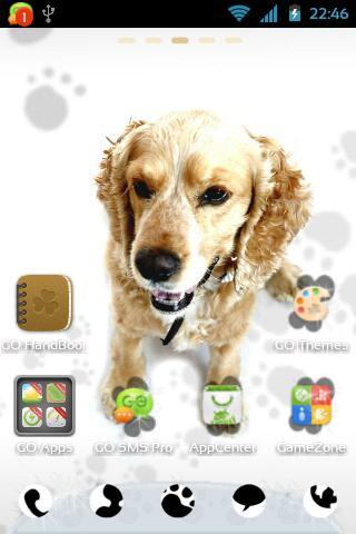 GO桌面EX可爱的小狗主题