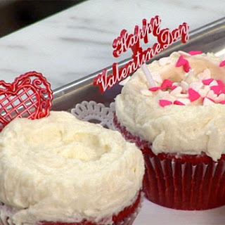 Red Velvet Cupcakes with Creamy Vanilla Icing.