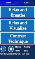 Screenshot of Stress Reduction Audio