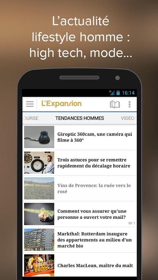 L'Expansion : actu economique - screenshot