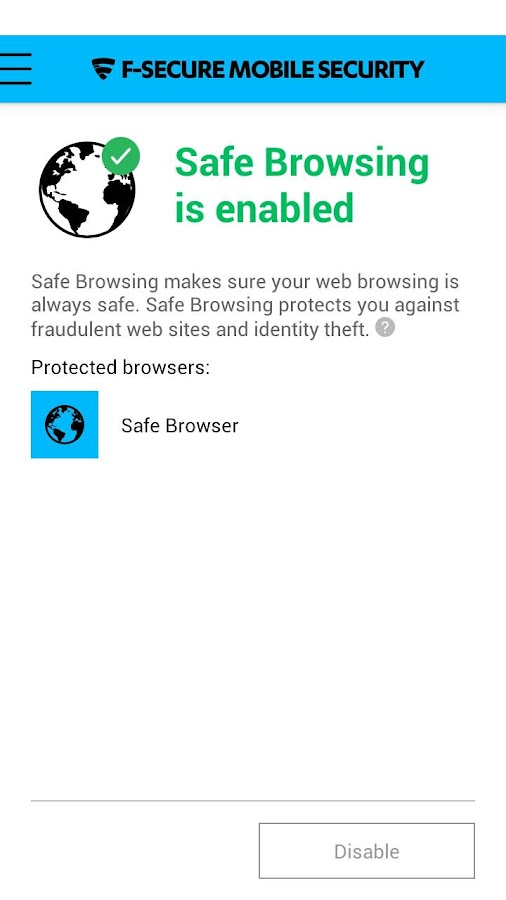 F-Secure Mobile Security - screenshot