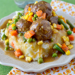 Shepherd's Pie Meatballs & Mashed Potatoes.