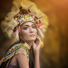 Dayak Girl by Agus Stiawan - People Portraits of Women