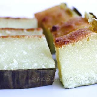 Kuih Bengka (Tapioca/Cassava Cake).