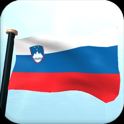 Словения Флаг 3D Бесплатных