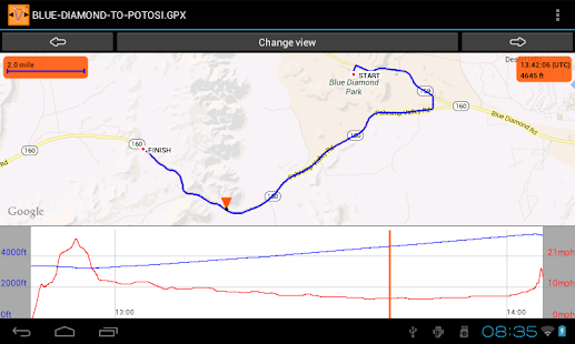 GPS Track Browser - Free - screenshot thumbnail