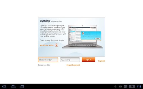 Zipwhip Texting App - screenshot thumbnail