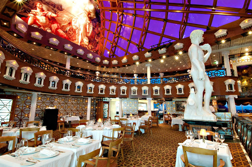 Carnival-Pride-Davids-Steakhouse - Before setting sail on your Carnival Pride cruise, book your reservation at the popular David's Steakhouse.