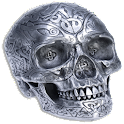 Iron Celtic Skull sticker ! logo