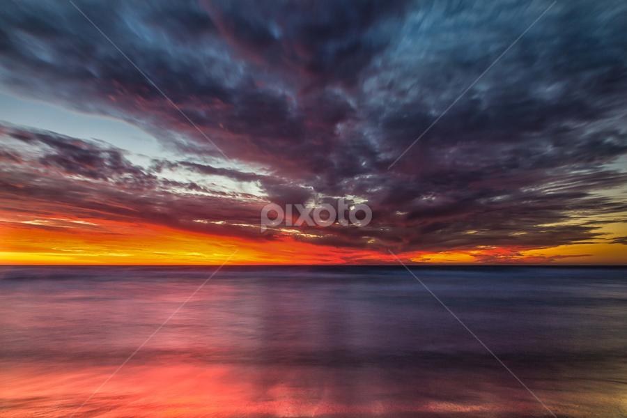 Secret Sunset by Steve Brooks - Landscapes Sunsets & Sunrises ( canon, water, sunset, australia, rockingham, secret, ocean, long exposure, motion, perfect, sun, western australia )