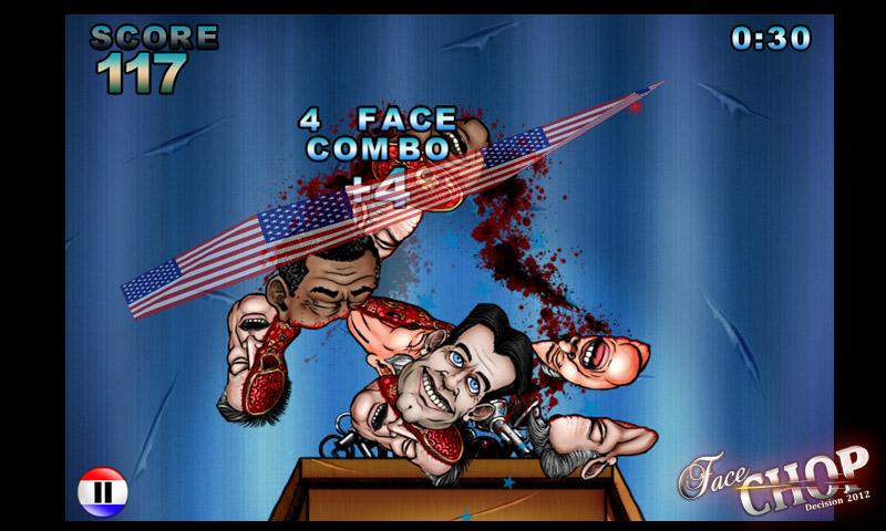 Face Chop: Decision 2012 Free! - screenshot