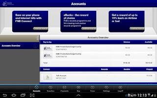 Screenshot of RMB Private Bank Tablet App