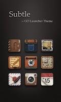 Screenshot of Subtle GO Launcher Theme