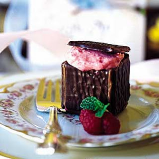 Chocolate Boxes with Raspberry Mousse