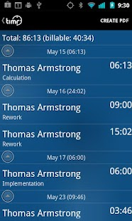 timr -Time and Mileage Tracker - screenshot thumbnail