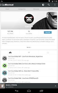Mixcloud - Radio & DJ mixes - screenshot thumbnail