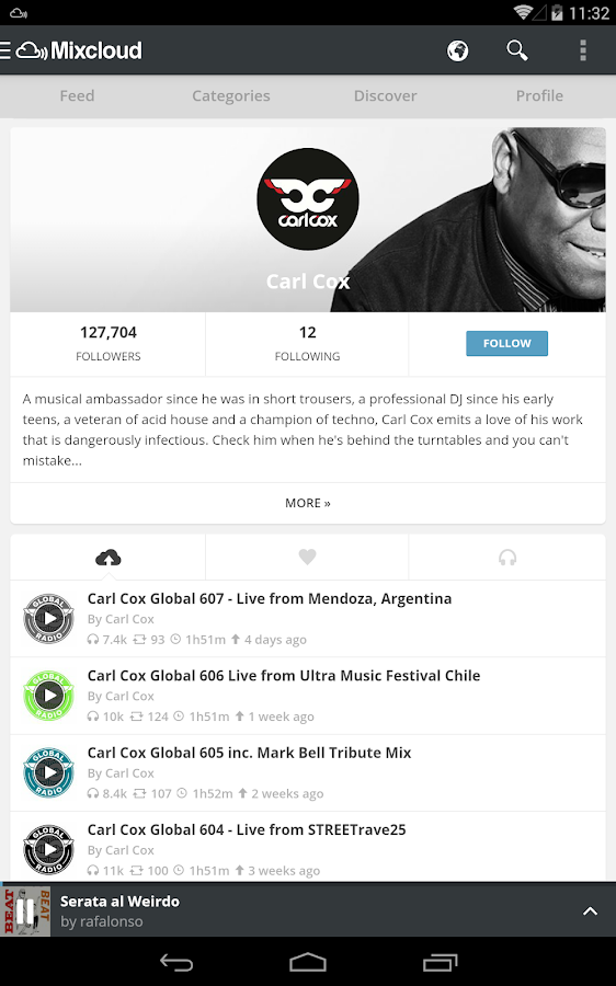 Mixcloud - Radio & DJ mixes - screenshot