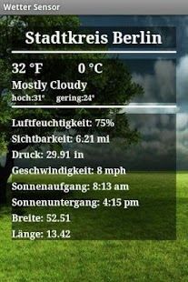 Weather Sensor Free screenshot