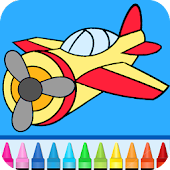 Planes: painting game for kids