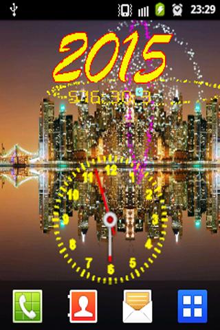 Fireworks With Analog Clock